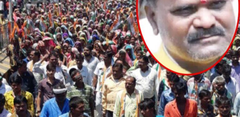 दाहोद लोकसभा के कोंग्रेस के प्रत्याशी बाबूभाई कटारा का चुनाव प्रचार का अनूठा प्रयास