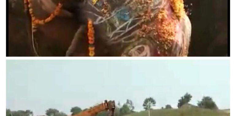 પશુ વિભાગ દ્વારા રૂપા હાથણીનું સારવાર દરમિયાન મોત,રાજસ્થાનનાસલોપાટ ગામે કરાઈ અંતિમવિધિ:ગ્રામજનો વેપાર ધંધા બંધ રાખી અંતિમવિધિમાં જોડાયા