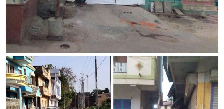 સંતરામપુરમાં કોરોના પોઝીટીવનો કેસ નોંધાતા નગરજનોમાં ફફડાટ:સ્થાનિક લોકોએ પોતાના વિસ્તાર સીલ કર્યા