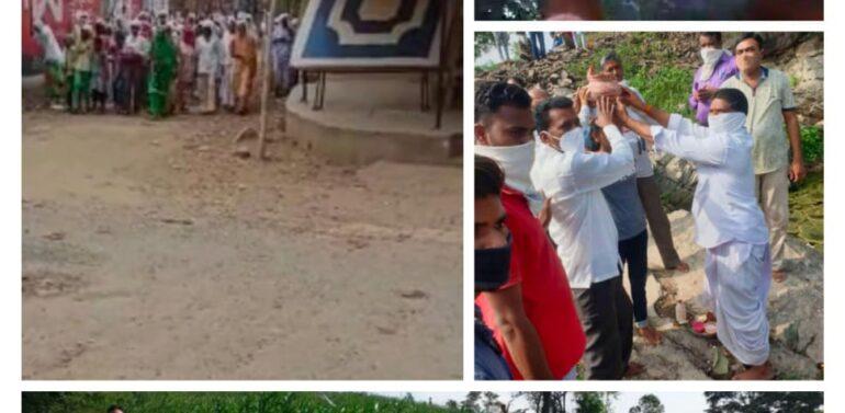 ફતેપુરામાં વરુણદેવને રીઝવવા માટે પંથકવાસીઓ ભોલેનાથના શરણે:વરસાદ ખેંચાતા શિવલિંગને પાણીમાં ડુબાડ્યા:મહિલાઓએ પુરુષવેશ ધારણ કરી ધાડ પાડી