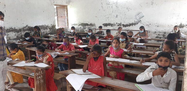 સિંગવડ તાલુકાની જી.એલ.શેઠ હાઈસ્કૂલમાં એકલવ્યની પરીક્ષા યોજાઈ